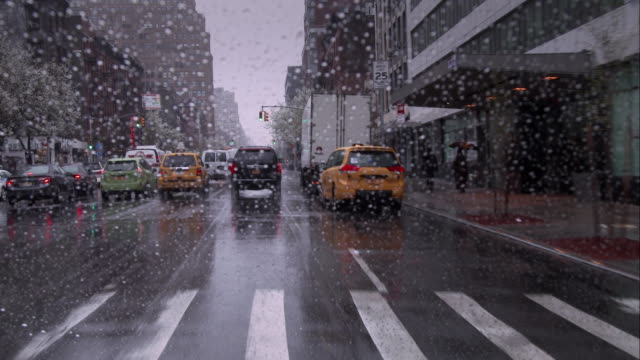 rainy day in manhattan - wet stock videos & royalty-free footage