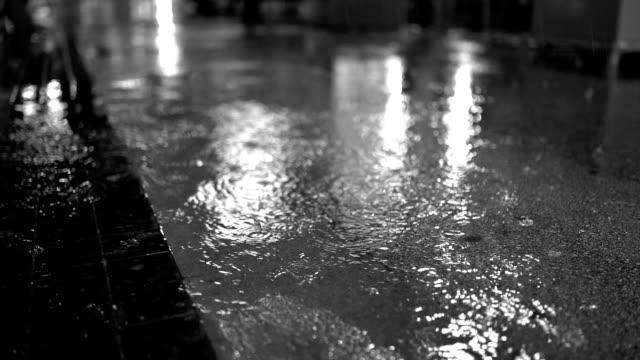 rainy evening - street light stock videos & royalty-free footage