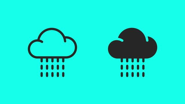 Rainy Icons - Vector Animate