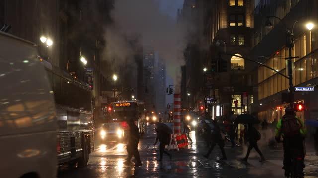 rainy new york city - yellow taxi stock videos & royalty-free footage