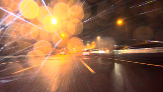 rainy night driving - distracted stock videos & royalty-free footage