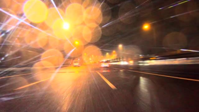 rainy night driving - headlight stock videos & royalty-free footage