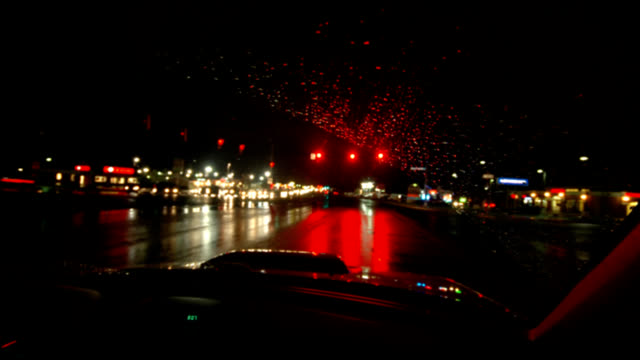 Rainy night driving