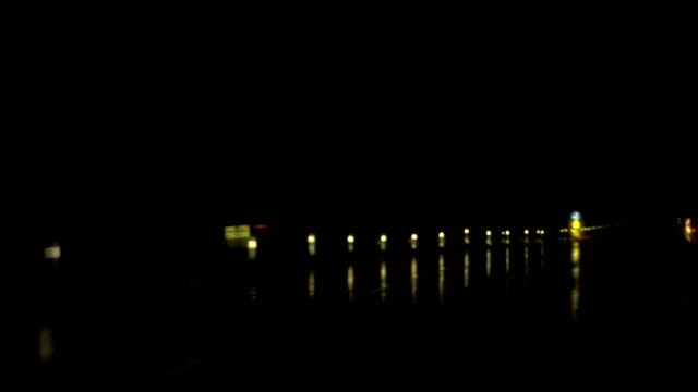 Rainy Night Highway Drive