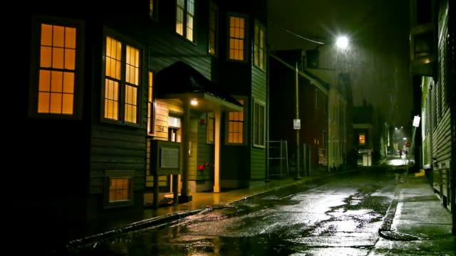 rainy night in boston - massachusetts stock videos & royalty-free footage