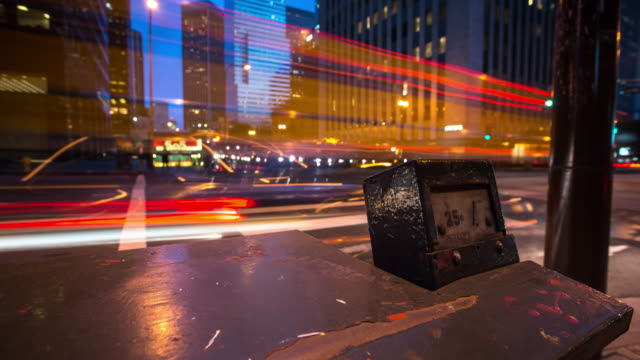 vídeos de stock e filmes b-roll de rainy night in los angeles- time lapse - city of los angeles