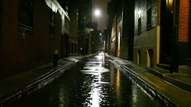 Chuvoso noite na cidade