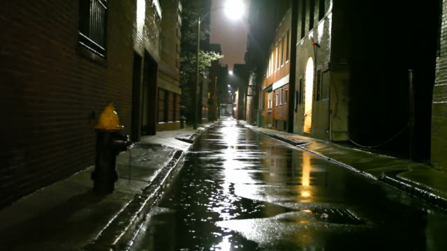 rainy night in the city - narrow stock videos and b-roll footage