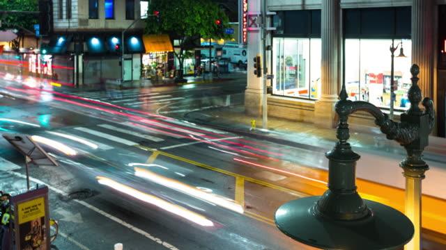Rainy Night Traffic - Time Lapse