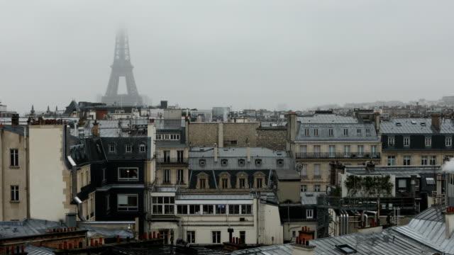 vidéos et rushes de pluvieux de paris  - pluie