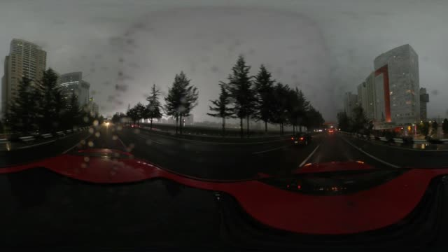 rainy santa fe mexico city futuristic 360°vr panoramic - wide angle stock videos & royalty-free footage