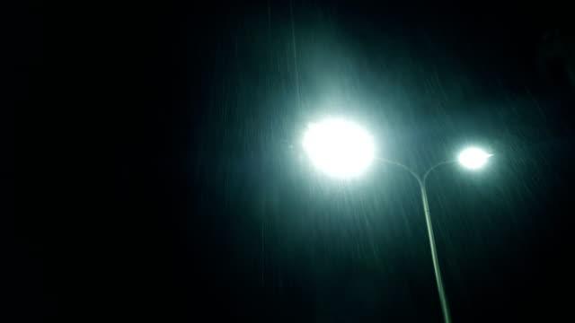 Verregnete Straße bei Nacht