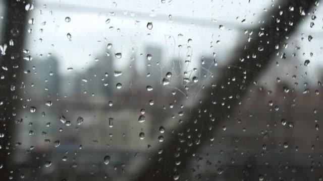 rainy subway car