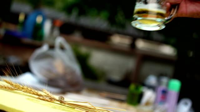 ビールに乾杯します。 - 談笑する点の映像素材/bロール