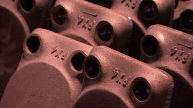 raised fx4 labels mark cast iron components. - cast iron stock videos & royalty-free footage
