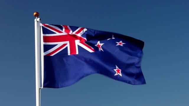 Raising the New zealand flag