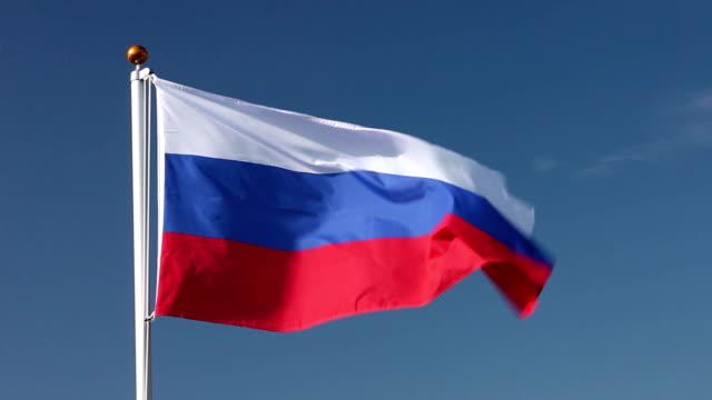 Raising the Russian flag