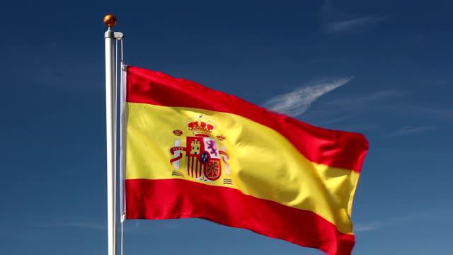 、スペイン国旗掲揚 - スペイン国旗点の映像素材/bロール