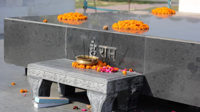 raj ghat memorial for mahatma ghandi, new delhi, india - funeral stock videos & royalty-free footage