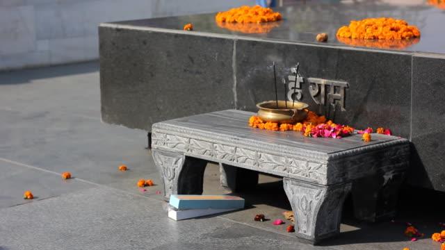 raj ghat memorial for mahatma ghandi, new delhi, india - mahatma gandhi stock videos & royalty-free footage