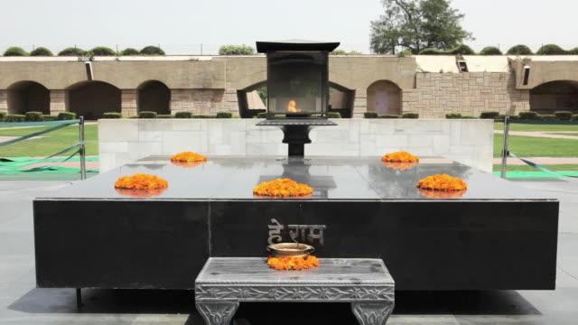 ms raj ghat memorial to mahatma gandhi / delhi, punjab, india - memories stock videos & royalty-free footage