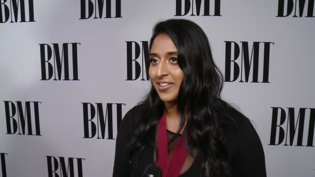raja kumari on what it means to receive this recognition from bmi, the most rewarding part of songwriting, her advice for aspiring songwriters and... - songwriter stock videos & royalty-free footage