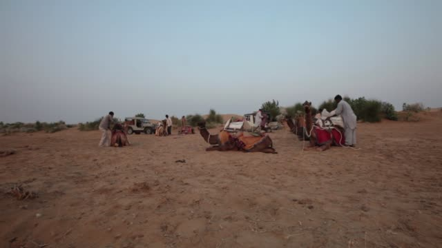 rajasthan india november 3 2014 the thar desert is a large arid region in the northwestern part of the indian subcontinent and forms a natural... - young men stock videos & royalty-free footage