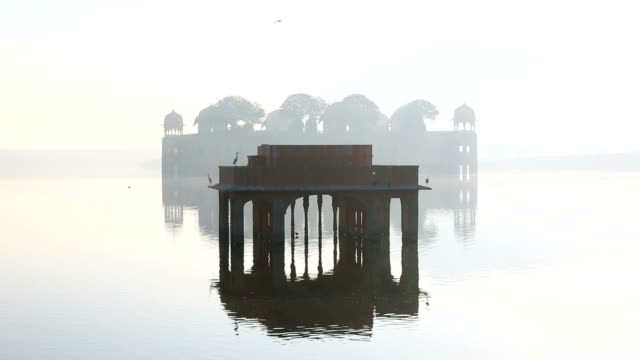 rajasthan jaipur india asia jal mahal water palace - rajasthan stock videos and b-roll footage