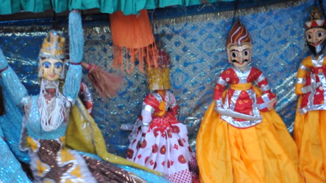 rajasthani puppet live show - puppet stock videos & royalty-free footage