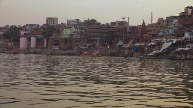 rajendara prasad and sakka ghats,  varanasi, ganga - pilgrimage stock videos & royalty-free footage