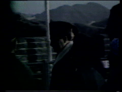rajiv and sonia gandhi visit the great wall of china in 1988. - visit stock videos & royalty-free footage