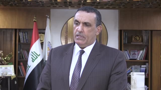Rakan Said Iraq's Kirkuk governor holds press conference in government building in Kirkuk on May 23 2019 Daesh sets hundreds hectare of agricultural...