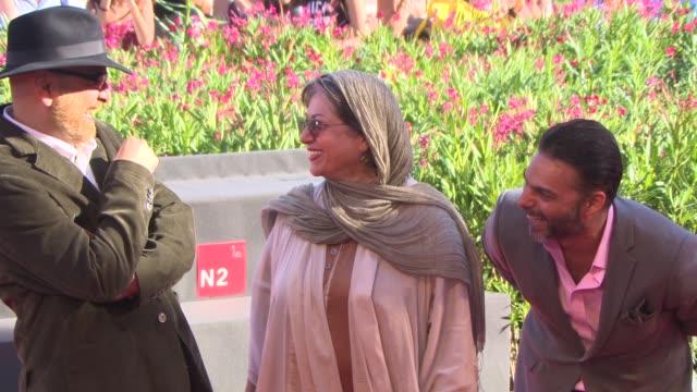 rakhshan bani-etemad, peyman moaadi, habib rezaei at 'tales' red carpet - 71st venice international film festival at palazzo del cinema on august 28,... - 第71回ベネチア国際映画祭点の映像素材/bロール