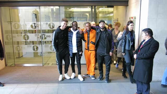 RakSu at BBC Radio One at Celebrity Sightings in London on December 04 2017 in London England