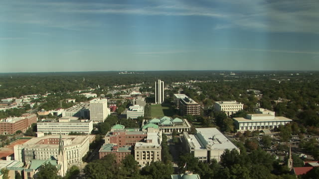 ha, ws, td, raleigh cityscape with north carolina state capitol, north carolina, usa - state capitol building stock videos & royalty-free footage