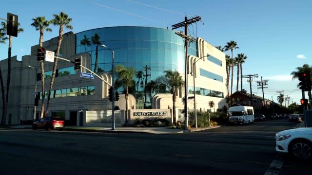 Raleigh Studios on Melrose Avenue with the adjacent Douglas Fairbanks Studios