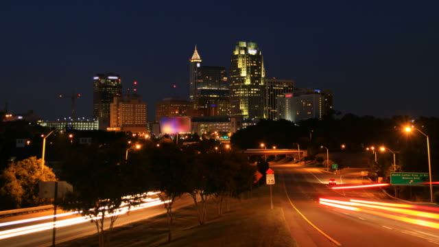 raleigh time lapse - charlotte north carolina stock videos & royalty-free footage