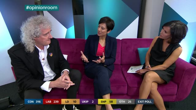 rallings talks of swing to the conservatives in swindon north opinion room nina hossain says that a source of isobel hardman says that nigel farage... - nina hossain video stock e b–roll