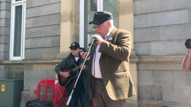 a rally for victims of alleged child sexual abuse takes place in enniskillen calling on psni to take further action on the allegations - pedophilia stock videos and b-roll footage