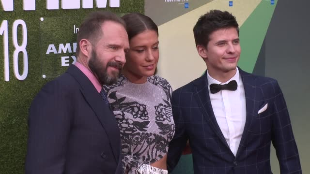Ralph Fiennes Adele Exarchopoulos Oleg Ivenko on October 18 2018 in London England