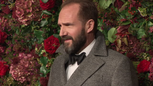 ralph fiennes arrives at the 64th evening standard theatre awards hosted in theatre royal on november 18 2018 in london united kingdom - theatre royal stock videos and b-roll footage