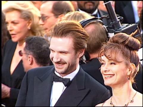 ralph fiennes at the 1997 academy awards arrivals at the shrine auditorium in los angeles california on march 24 1997 - 69th annual academy awards stock videos & royalty-free footage