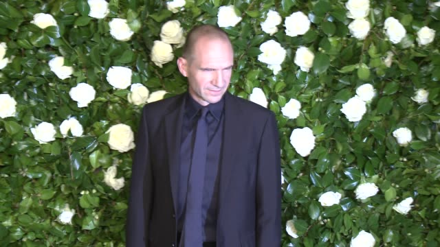 ralph fiennes at the museum of modern art 2013 film benefit - a tribute to tilda swinton at the museum of modern art on in new york city. - レイフ・ファインズ点の映像素材/bロール
