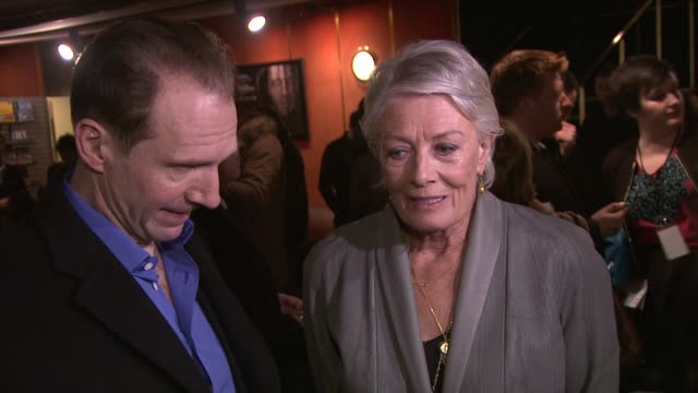 Ralph Fiennes on being on set being moved by Vanessa Redgrave Vanessa Redgrave on emotion and acting at Coriolanus Special Screening at The Curzon...