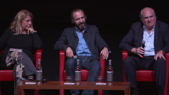 ralph fiennes on the new harry potter film at 'the english patient - il paziente inglese' press conference - 11th rome film festival during the 11th... - the english patient点の映像素材/bロール