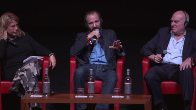 ralph fiennes on the script at 'the english patient - il paziente inglese' press conference - 11th rome film festival during the 11th rome film... - the english patient点の映像素材/bロール