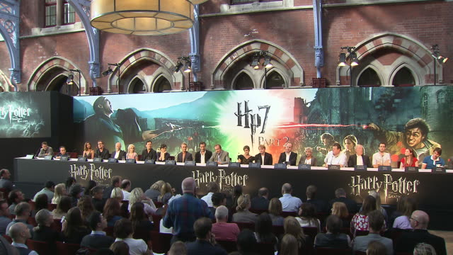 ralph fiennes on what fans say about his character playing lord voldemort at the harry potter the deathly hallows part 2 press conference at london... - harry potter stock videos & royalty-free footage
