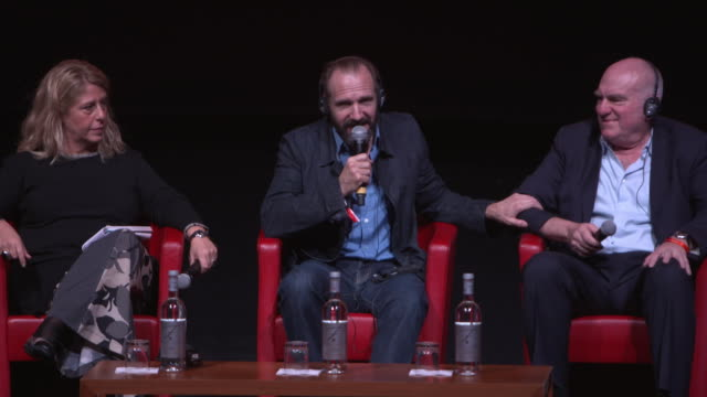 ralph fiennes on working with anthony minghella at 'the english patient - il paziente inglese' press conference - 11th rome film festival during the... - the english patient点の映像素材/bロール