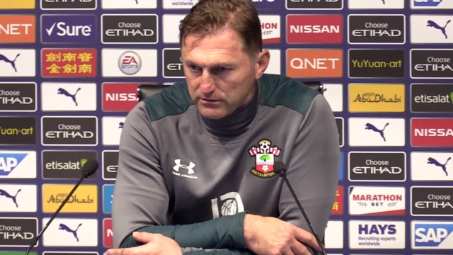 ralph hasenhüttl reacts to his side's 21 loss against manchester city kyle walker struck a late winner as champions manchester city came from behind... - pressure point stock videos & royalty-free footage