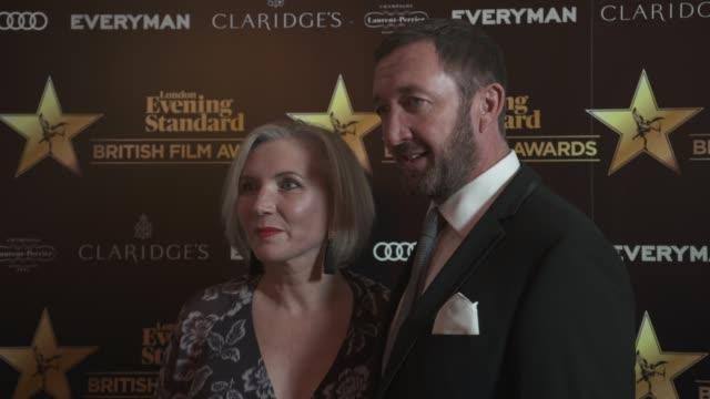 ralph ineson at evening standard british film awards at claridge's hotel on february 8, 2018 in london, england. - 映画賞点の映像素材/bロール